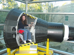 Photo: I'm tiny. Think that grown men about a foot taller than I had to fit inside this thing!