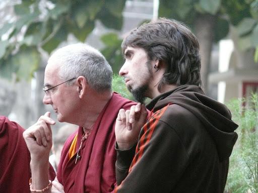 Ven. Roger Kunsang and Osel Hita Torres, Bodhgaya, Jaunary 2012. Photo by Kalleen Mortensen.