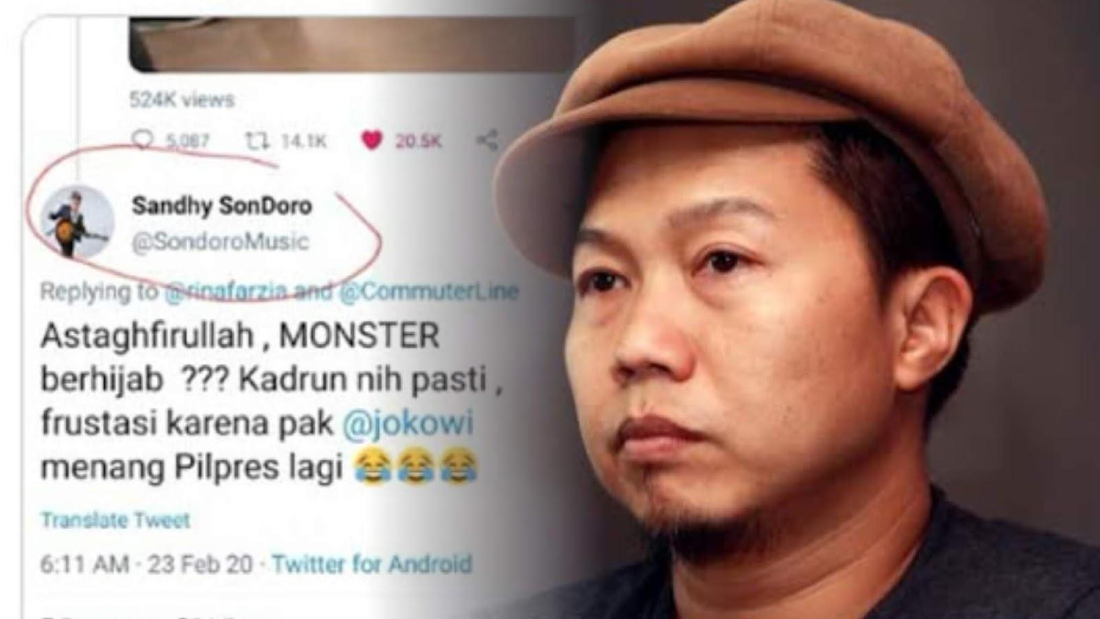 Sandhy Sondoro Dilaporkan Gara-gara Sebut Monster Berhijab Ngamuk di KRL