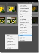 Exporting files to Efex HDR