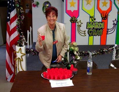 1701043 Jan 22 Barb Serves Sambuca Coffee Beans At Flatulent Fest