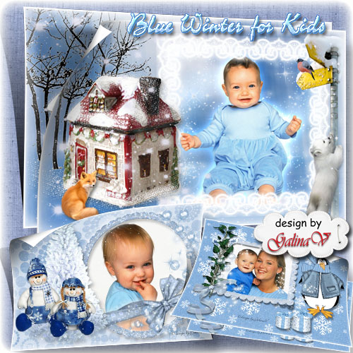 Photo frames for Kids - Blue Winter Tales