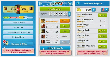 SongPop App voor Android, iPhone en iPad