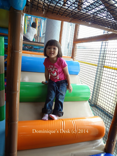 Tiger girl asking me to follow her up the playscape