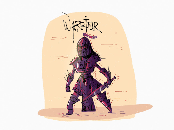 Warrior RPG made with Sketches