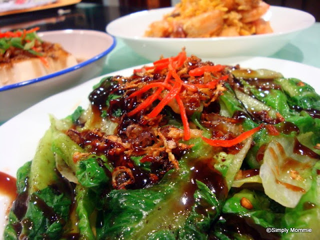 romaine lettuce with oyster sauce