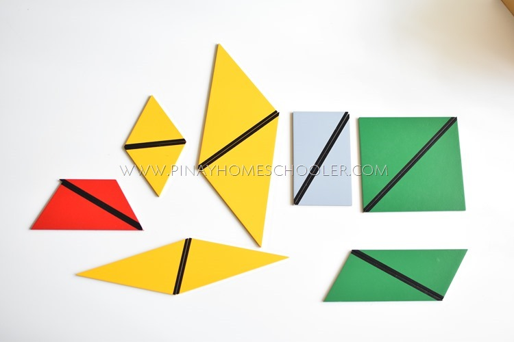 Montessori Constructive Triangles: Rectangular Box Contents