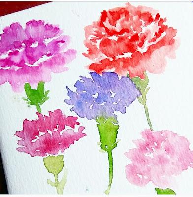 zine indonesia watercolor flower
