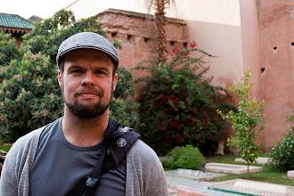 Photo: Dan in the gardens of the Saardian Tombs