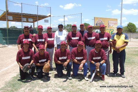 Equipo Insulinos en el softbol de segunda fuerza