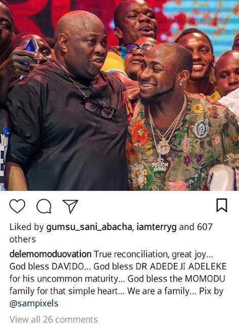 Davido finally Apologizes To Dele Momodu As They Reconcile