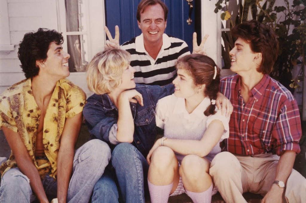 Wes Craven and the Elm Street brats: Nick Corri (now Jsu Garcia), Amanda Wyss, Heather Langenkamp and Johnny Depp