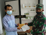 Kodim 0732/Sleman serahkan infaq ke Badan Amil Zakat Nasional (Baznas) Kabupaten Sleman