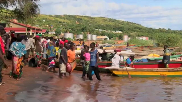 Fishing boats on the shore of Lake Tanganyika. Photo: BBC / Africa Business Report
