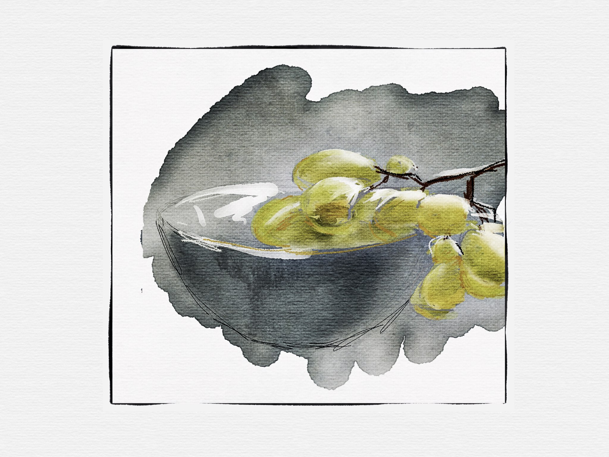Grapes made with Sketches