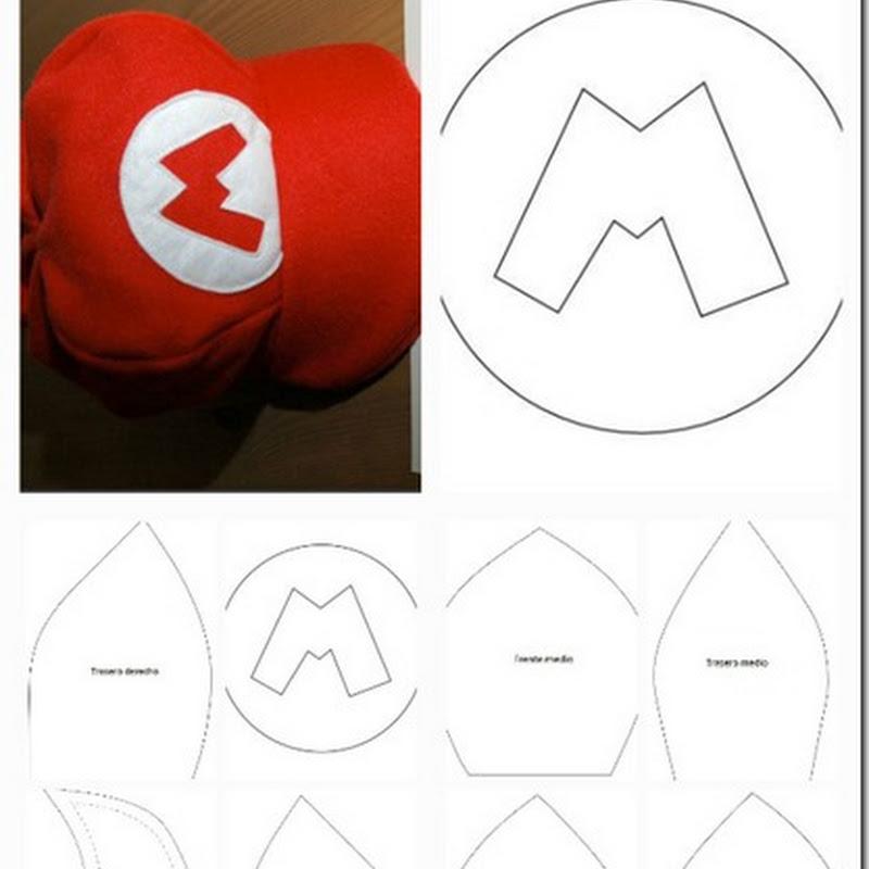 Moldes Gorra de Mario Bross fieltro