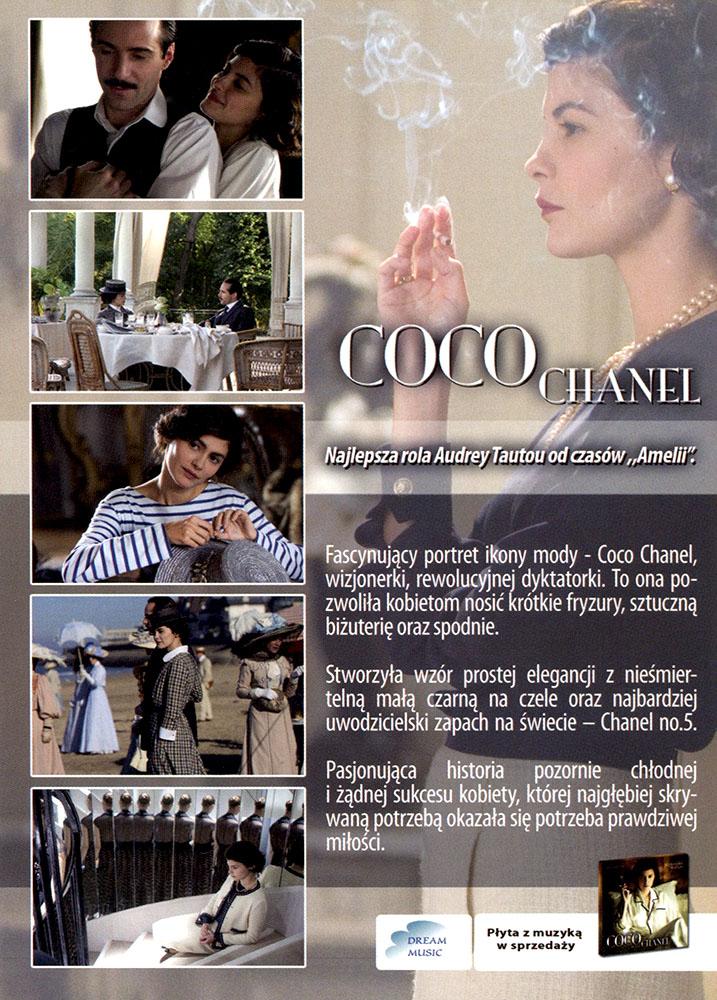 Ulotka filmu 'Coco Chanel (tył - wersja C)'