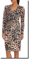 Betty Barclay printed leopard print fixed wrap dress