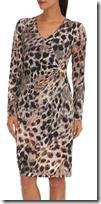 Betty Barclay printed leopard print fixed wrap dress