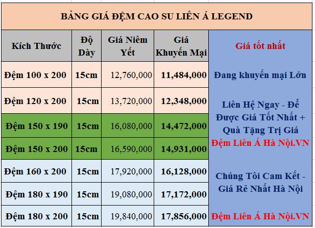 bang-gia-nem-cao-su-lien-a-legend