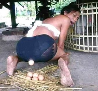 lady started laying egg after coming back from evening hangout with Yahoo plus guy.