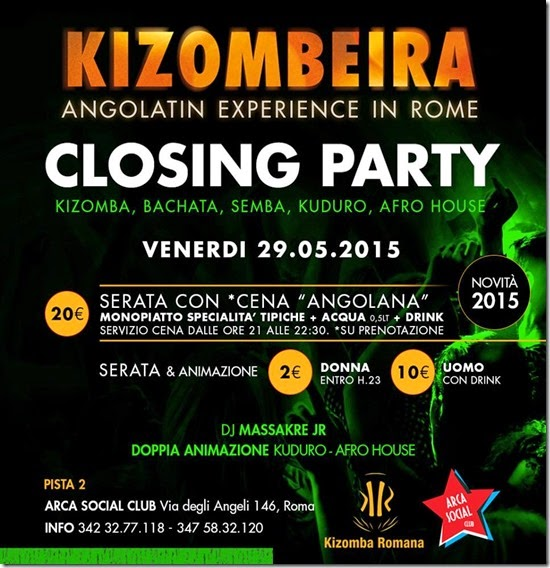 Kizombeira - Angolatin Experience in Rome - Closing Party 2015