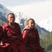 Monk and Ganesh Himal.