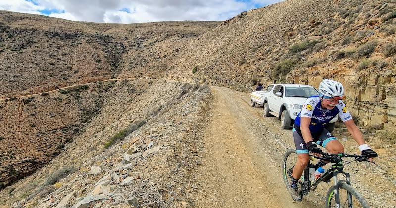 Paul climbing Gannaga Pass