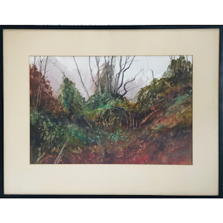 Glenn Rudderow Signed Watercolor Painting