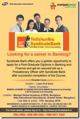 Syndicate Bank PGDBF Notification 2018 www.indgovtjobs.in