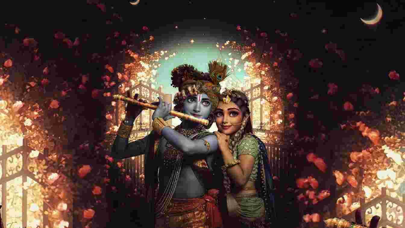 Radha Krishna Love Quotes in Hindi and English