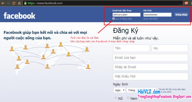 bất cẩn trong việc sử facebook ở máy công cộng sẽ khiến bạn bị mất tài khoản facebook