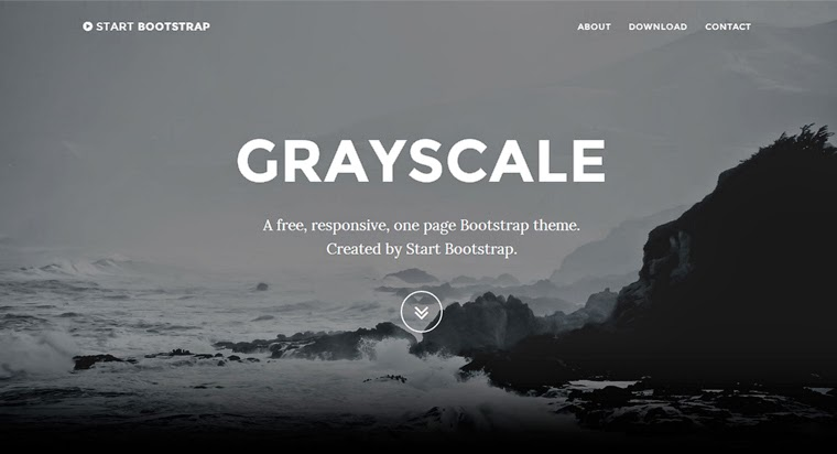 Free Bootstrap Themes Grayscale Templates
