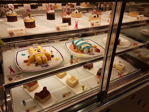 Cake display from Craftholic Cafe at SYS Memorial Hall Taipei