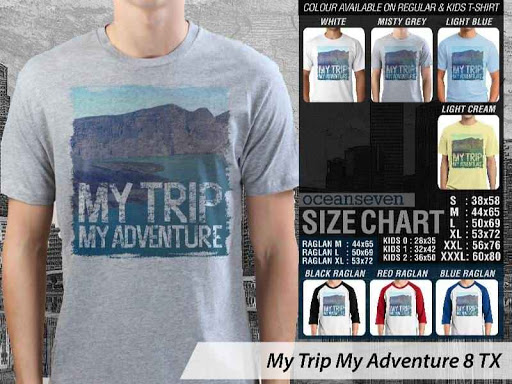 Kaos Wisata Indonesia My Trip My Adventure 8 distro ocean seven