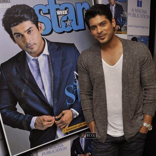 Siddharth Shukla poses for the cameras during the launch of Star Week magazine's latest issue in Mumbai, on July 31, 2014.(Pic: Viral Bhayani)