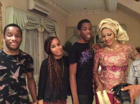 Lovely new photo of Bianca Ojukwu and her kids