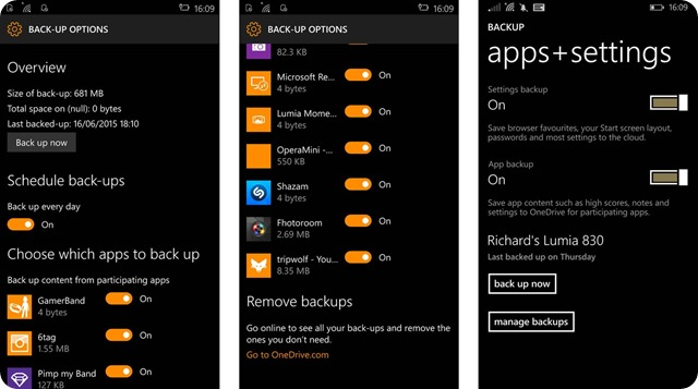 windows 10 mobile app-backup-screens