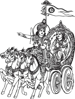 [Arjuna and Krishna]