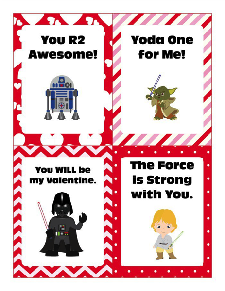 Star Wars Young Character Valentines