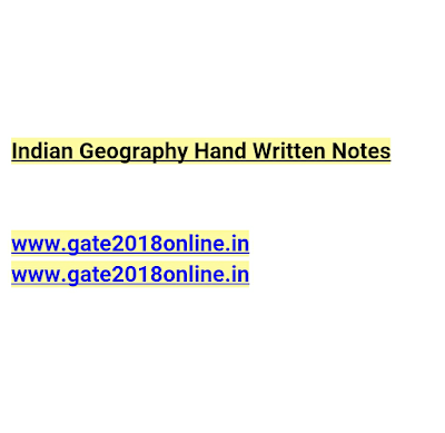Indian Geography Hand Written Notes