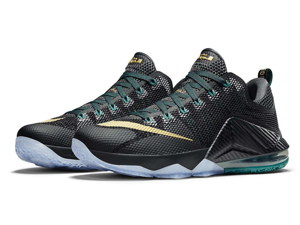 newest da2e0 5371e Release Reminder Nike LeBron 12 Low SVSM Carbon ...