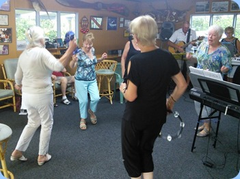 Having fun to the music! Photo courtesy of Dennis Lyons.