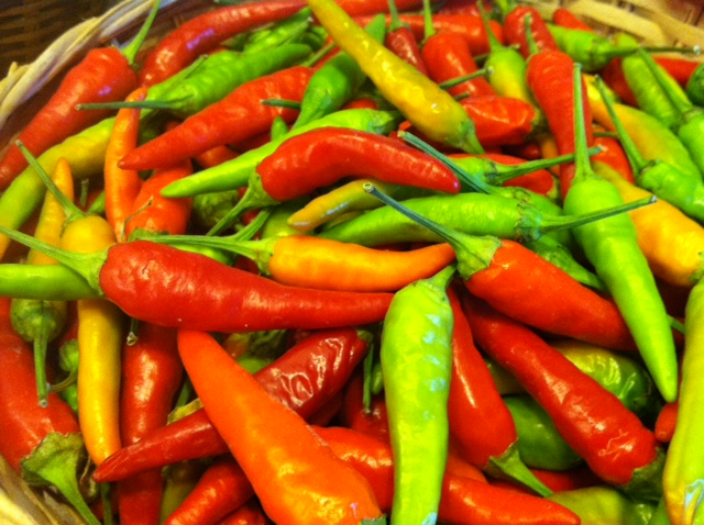 Chilies from the garden.  Photo by Erin Turner.
