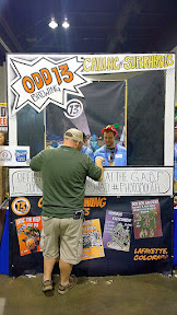 Other brewery booths of GABF 2015 - Odd 13 Brewing with their superhero theme