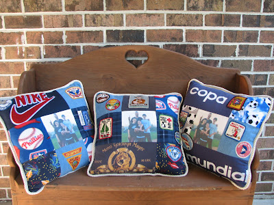 Each pillow is a little different. Each Memory Pillow or Quilt is truly a one-of-a-kind gift!
