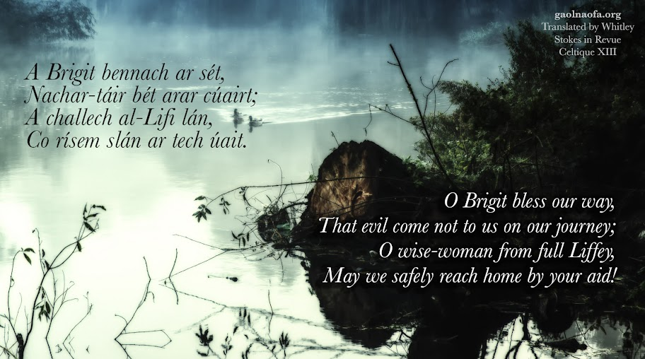 O Brigit bless our way...