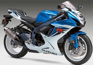 2011 Suzuki GSX-R 600 blue colors