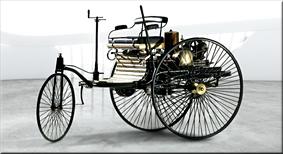 Triciclo motorizado patentado Benz - 1886
