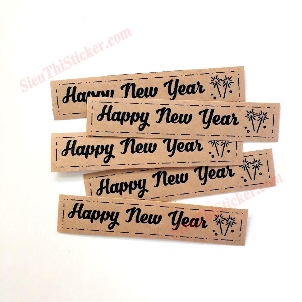 nhãn kraft happy new year